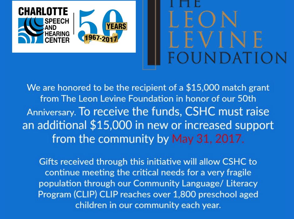 The Leon Levine Foundation Matching Grant