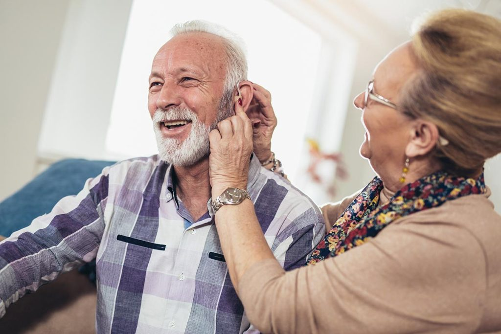 at-home hearing aid care